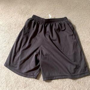 Grey men's athletic shorts
